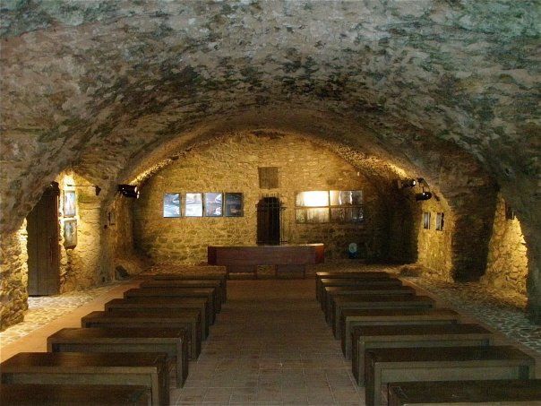 Picture of underground chapel in Rabi castle